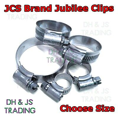 Stainless Steel Hose Clip JCS Jubilee Clips Worm 12mm - 260mm Sizes Available