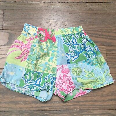 Lilly Pulitzer Vintage Fabric Sea Life Shorts Kids Size 5