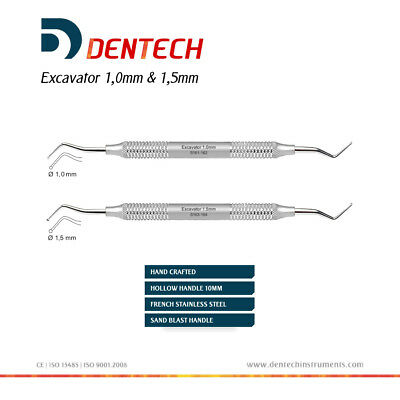 Excavator Round 1 Mm & 1.5 Mm Restorative Dental Hand Instrument Ce