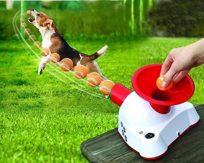 Automatic Dog Ball Launcher Fetching Machine Talking Trainer Toy Pet Thrower