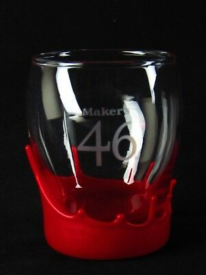 4 MAKERS MARK 46 Red Wax Dripped Bourbon WHISKEY Cocktail GLASSES FREE SHIPPING!