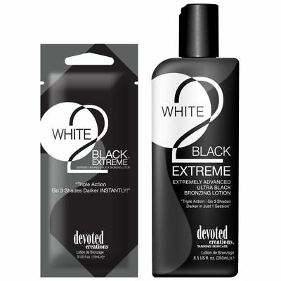 Devoted Creations - White 2 Black: Extreme - Sunbed Tanning Lotion Cream