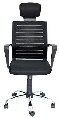 Top Power Office Chairs Black | Ergonomic Adjustable Height Lift 360 Swivel Desk