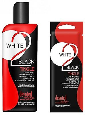 Devoted Creations - White 2 Black: Tingle - Sunbed Tanning Lotion Cream