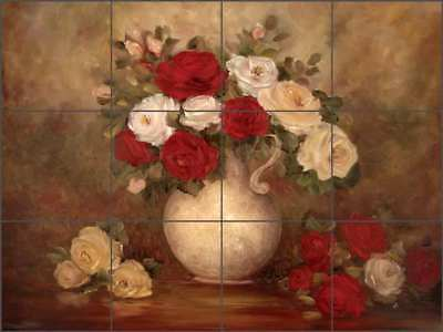 Rose Tile Backsplash Cook Ceramic Mural Flower Floral Art CC010