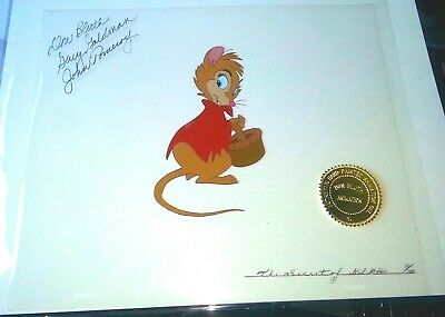SIGNED Don Bluth   Secret of Nimh   RARE Animation Limited Edition Cel of 100