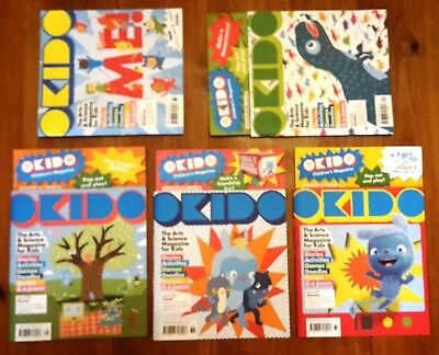 5 OKIDO Children's Arts & Science Magazines Nos 33 to 37, very good condition