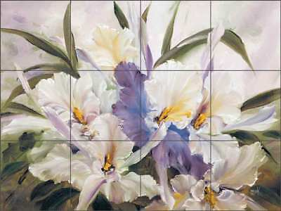 Orchid Tile Backsplash Cook Ceramic Mural Flower Floral Art CC022