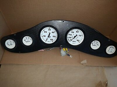 Used - Faria  6  Piece Gauge Set, Tach, Speed, Fuel Level, Voltage,Temp and Trim