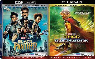 Black Panther, Thor: Ragnarok (Marvel)(4K Ultra HD)(UHD)