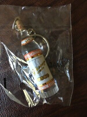 Stoli Vodka Stolichnaya Bottle Key Chain