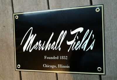 Marshall Fields Chicago Illinois nostalgia sign ....last 2 available