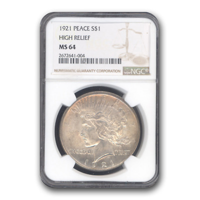 1921 Peace Dollar MS-64 NGC - SKU #19082