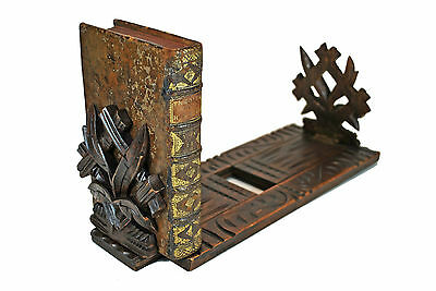 Antique Black Forest Expandable / Telescoping Book Shelf, Geneva, Switzerland.