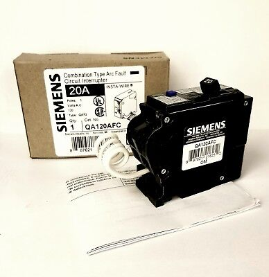Siemens QA120AFC 20A Single Pole Combination Type Arc-Fault Cuircuit Interrupter
