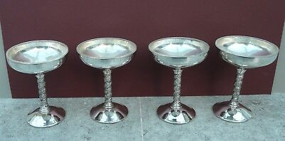 Silver-Plated Sundae Dishes / Wine Goblets (Set of 4)