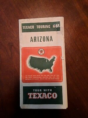 1938 Texaco Gas & Motor Oil service station touring Arizona road map!