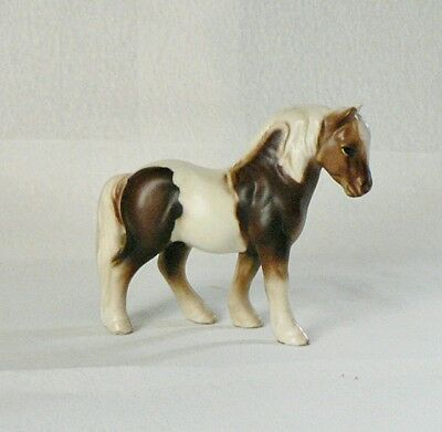 Beautiful Ceramic Little Brown & White Pinto Pony Horse Figurine