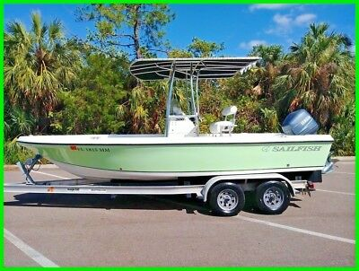 2004 Sailfish 2100 Center Console 150Hp Yamaha Custom Oversized T-Top Runs Great