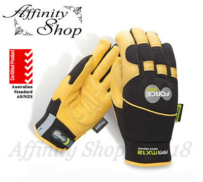 1x Force360 Predator Winter Work Gloves Fur Lined Leather Winterlined Glove NEW!