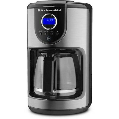 12-Cup Programmable Coffee Maker Appliance Countertop Kitchen Glass