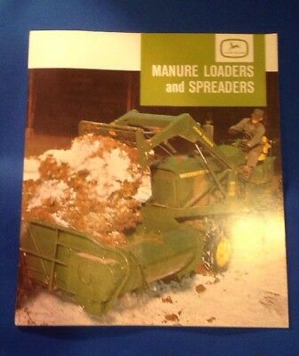 Vintage 60's John Deere Manure Loaders & Spreaders Dealer Brochure