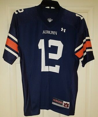 Boy's Under Armour Football Jersey Size Youth  YLG Large L #12 Auburn Tigers