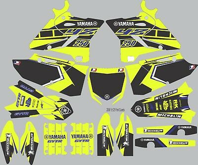 Vibrant Highlighter YAMAHA GRAPHICS  YZ 250 YZ250 2015 2016 2017 Blue