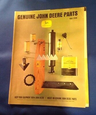 Vintage 1966 John Deere Tractor Plus Parts Catalog 40 Pages