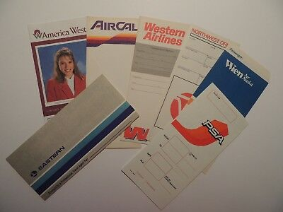 Lot 7 US airlines ticket jackets Western AirCal Eastern Wien PSA more**