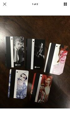 David Bowie Mta Metro Card Limited Edition. Set Of 5 Ships Now