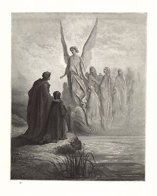 Gustave Dore: CELESTIAL HELMSMAN ON SHORES OF PURGATORY