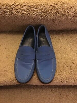 Mens Cole Haan Light Blue UNC Leather Reflection Penny Loafers Shoes Size 8 M