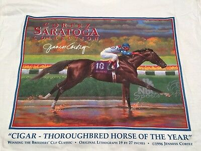 CORTEZ SARATOGA  collection horse racing CIGAR 1996 BREEDERS CUP Size M