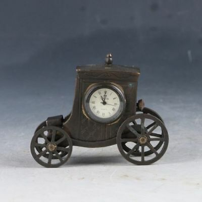 Old Cruated Copper Hand Made Automobile Mechanical Clock