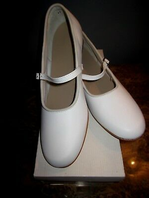 Mid-South Footwear Scoop Clogging Shoe White #10 Ladies Size 10M New with Box
