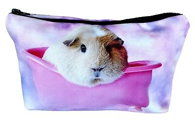 Pink Guinea Pig  Zipper Coin Purse Pouch by the Crazy Guinea Pig Lady