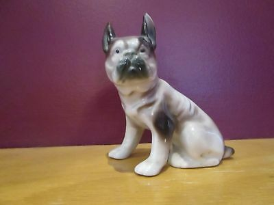 Vintage 2 dog figurines French Bulldog of Japan porcelain and Doulton terrier