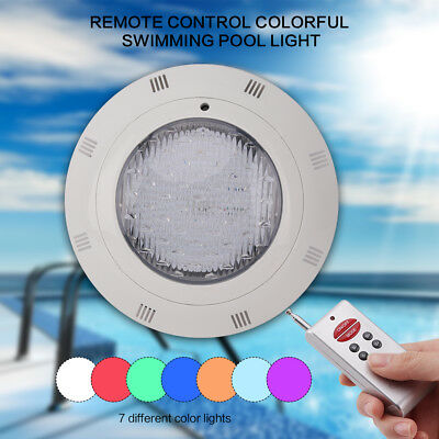 Remote control 216LED RGB Swimming Pool Lights Underwater Mount Wall Lamp 18W