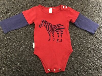 SOOKIBaby Sooki Baby Long Sleeve Zebra Crossing Bodysuit - Size 00