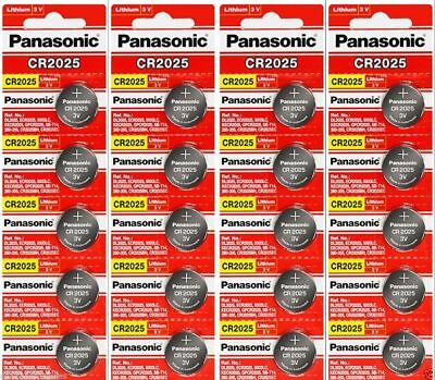 20 x Fresh PANASONIC CR 2025 CR2025 ECR2025 LITHIUM COIN CELL Battery Exp 2027