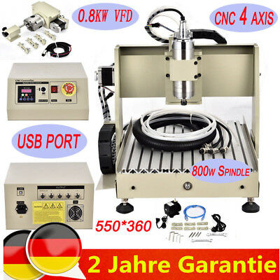 Usb Cnc Router Engraving Machine 4 Axis 3040 Cutter Crafts Carving Ball-Screw