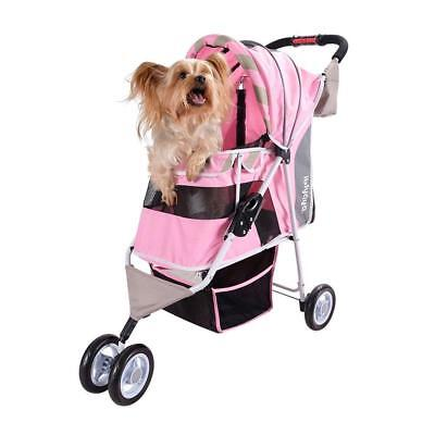 Dog Stroller – Matte Edition Diagonal Stripes Pet The Ultimate Fashion...