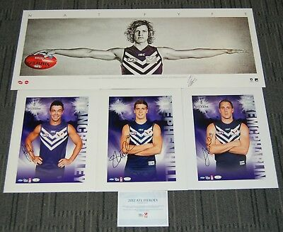 Fremantle Dockers Nat Fyfe Hill Mcpharlin Crowley Hand Signed Official Afl Print