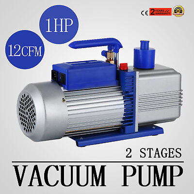 12CFM 2 Stages 1HP Refrigerant Vacuum Pump New Tools Air Condition Refrigeration