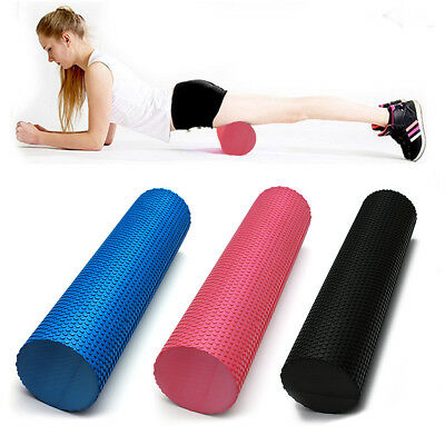 90x 15CM EVA PHYSIO FOAM ROLLER YOGA PILATES EXERCISE BACK HOME GYM MASSAGE NEW