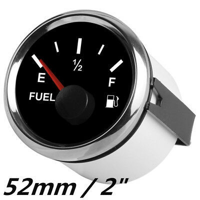 Universal 52mm Car Fuel Gauge Analogue Gas Level Indicator Meter Red LED 12/24V