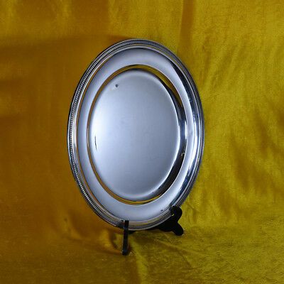 Very Large CIRCULAR Italian Sterling Silver 800 Tray 38cm diameter