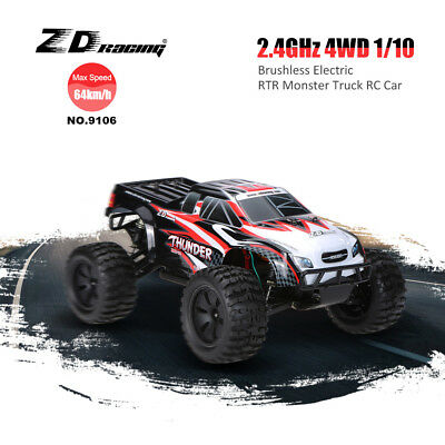 ZD Racing NO.9106 2.4G 1:10 4WD RTR RC Auto Monster LKW Truck Brushless Remote