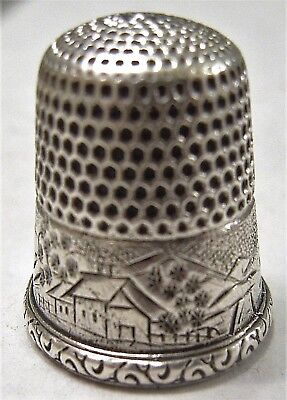 Beautiful  Simons Brothers Sterling Silver Thimble